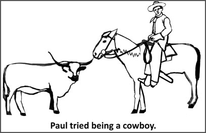 Paul Harris was a cowboy