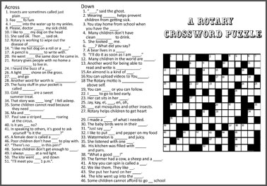 crossword puzzle for Rotary International